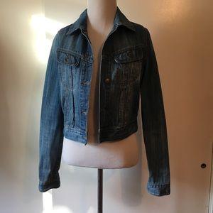 I Love H81 denim jacket size:M blue